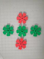 LEGO 30078 Propeller Blume 8x8 Grün Rot 5 Stück Noppen Brick Basic  (80)