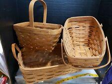 Longaberger Basket Lot (3), 1990s