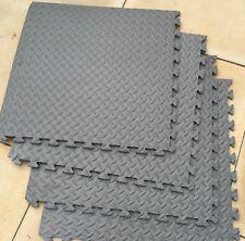 Garage Workshop Floor Tiles 64 sq ft 12mm interlocking Floor Mats 16 TILES