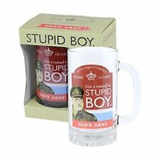 DADS ARMY STUPID BOY BEER STEIN GLASS TANKARD NEW IN GIFT BOX