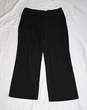 Worthington Petite Stretch 10P Black Light Gray Pinstripe Dress Capris W31 L27