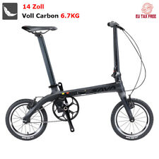 """SAVA Vélo Pliants 14"""" Cadre en Fibre de Carbone Bicyclette Pliable de Mini Neuf"""