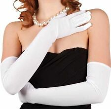 Gants blancs stretch extra longs 60 cm sexy pinup retro