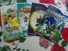 Lote manual Rayman Pokemon Sonic spyro (NO JUEGO ) NINTENDO  wii  PAL España
