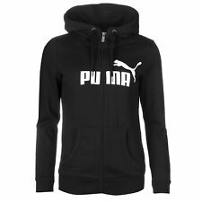 Puma No1 Logo Full Zip Hoody Womens Black/White Hoodie Jacket Top Sportswear