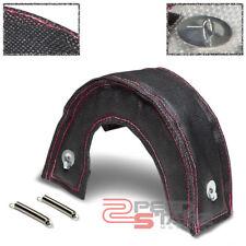 GT25/GT28/GT30/GT35/GT37 TURBO STEEL MESH HEAT SHIELD BLANKET BLACK/RED STITCH