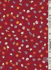 Red Dragonfly Floral Fabric by South Sea Imports bty REDUCED PRICE