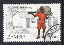 ZAMBIA = 1985 10th Anniv. Post, 55n Kalomo Post Office in 1902. SG443. Fine Used