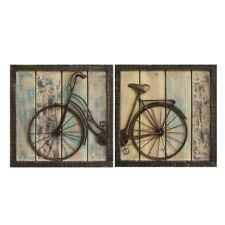 2 Piece Bicycle Hanging Interior Wall Art Home Decor