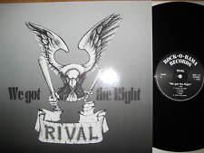 """NEU 12"""" Vinyl LP Rival - We got the Right - RARE OI Vinyl LP Rock o Rama"""