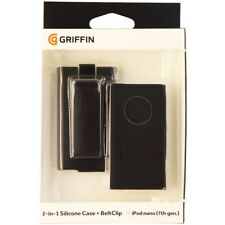 Griffin 2 in 1 Silicone Case with Belt Clip Holster for iPod Nano 8 / 7 - Black