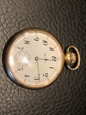 1914 HAMILTON 17 Jewels Pocket Watch GRADE 974 in 10k GOLD FILLED CASE 16s
