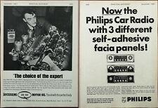 Duckhams 20-50 Motor Oil / Philips Car Radio Vintage Advertisement 1967