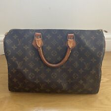 VINTAGE LOUIS VUITTON SPEEDY 35 GENUINE USED WITH LOCK MONOGRAM