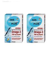 2xPack DAS Gesunde PLUS Omega-3 1000 mg capsules, 120 pcs *GERMANY*