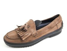 Tod's Fringe Loafers Brown Suede Womens Size EU 39 US 9 $580