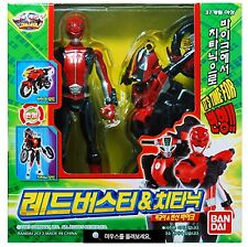 BANDAI Power Rangers GO-Busters RED BUSTER & CHEEDA NICK Tokumei sentai Figure