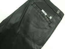 7 For All Mankind Black Faux Leather Stretch Crop Coated Pants Size 32