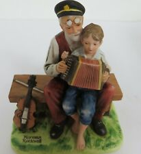 "Norman Rockwell Figurine ""The Music Lesson"" Original Box, 1980, Never Displayed"