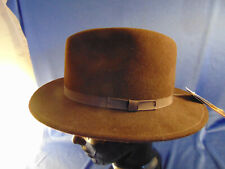 d0bd4df2 Unisex Brown hat size L fedora style Country Gentlemen made USA 100% wool  felt