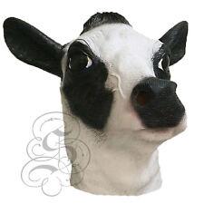 Latex Full Head Milk Cow (Black/White) Animal Fancy Dress Up Party Carnival Mask