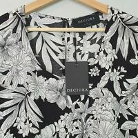 [ DECJUBA ] Womens Print Blouse Top NEW | Size L or AU 14 or US 10