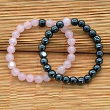 Set Pareja de pulseras de cuentas en piedra natural regalo ideal para enamorad@s