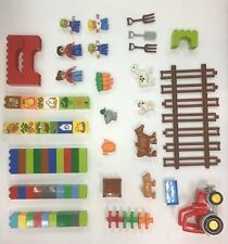LEGO USED Mixed Duplo Lot (bricks, figures, animals, tractor, decorated) D102