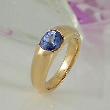 Ovale Echte Edelstein-Ringe mit Tansanit für Damen