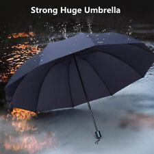 Men Large Strong Umbrella Rain Windproof Folding Big Outdoor Wind Resistant UK
