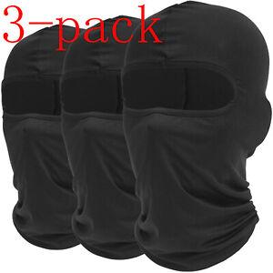 3 Packs UV Protection Balaclava Full Face Mask Windproof Ski Mask for Women Men