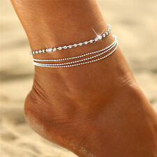 Jewelry Foot Silver Bead Chain Anklet Ankle Bracelet Women Barefoot Sandal Beach
