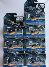 LOT of 7 Different DISNEY HOT WHEELS FOR TRACKS STAR WARS CARSHIPS Rogue One X1