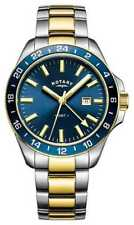 Rotary Mens Havana GMT Two Tone Blue GB05082/05 Watch - 18% OFF!