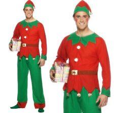 """(tg. M - Dimensione 38""""-40"""") Smiffys Costume da Elfo Rosso e Verde con Top PA"""