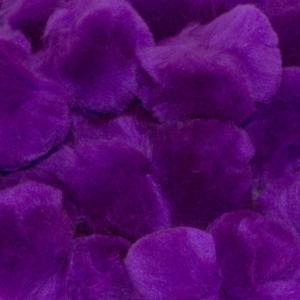 2.5 Inch Purple Large Craft Pom Poms 15 Pieces