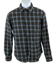 Paul Frank Men's Shirt Long Sleeve Button Dow Shirt Brown Blue Checker Size: S