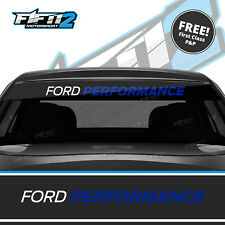 Ford Performance Focus Universal Sunstrip Zetec RS Sun Strip Decal ST BLUE