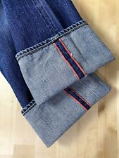"KAPITAL Japan Selvedge Straight Leg 5 Button Blue Denim Jeans  Size 30"" Waist"
