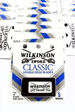 Wilkinson Sword CLASSIC Double Edge Razor Blades - 6 packs of 5 (30 blades)