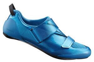 Shimano TR9 Triathlon Carbon Cycling Road Bike Shoes Blue SH-TR901 45 (US 10.5)