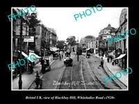 OLD LARGE HISTORIC PHOTO OF BRISTOL ENGLAND, VIEW OF WHITELADIES ROAD c1920