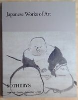 Sotheby's Auction Catalog JAPANESE WORKS OF ART 9/1999 New York