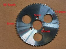 MINI MOTO 55 TOOTH NARROW PITCH REAR DRIVE CHAIN SPROCKET SILVER