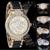 Superbe Montre Genève Quartz Chic Femme Beau Cadran Bracelet Métal Women Watch