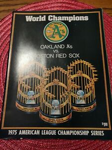 1975 American League Championship Series Magazine Oakland VS. Boston