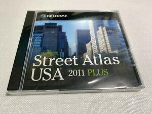 DELROME Street Atlas USA 2011 Plus - 2 DVD Set - NEW & Sealed