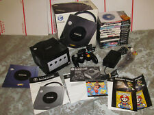 Nintendo GameCube Complete CIB Black Boxed Console System with 13 Game Bundle