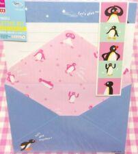 Pingu Penguin Letter Set / Made in Japan DAISO Stationery Blue