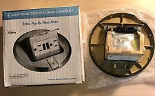 Lew Electric PUFP-B Brass popup floor plate / GFCI Receptacle/E60120